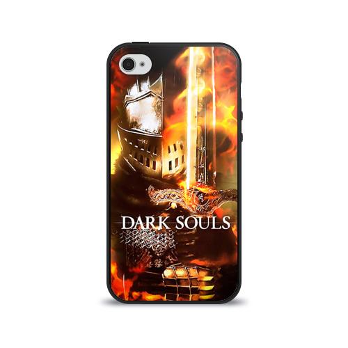 Чехол для Apple iPhone 4/4S силиконовый глянцевый Dark Souls 1 от Всемайки