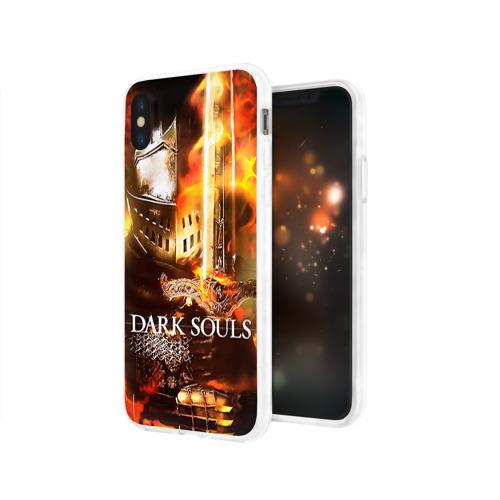 Чехол для Apple iPhone X силиконовый глянцевый  Фото 03, Dark Souls 1