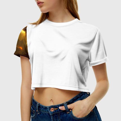 Женская футболка 3D укороченная  Фото 01, Dark Souls 1