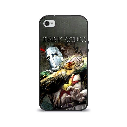 Чехол для Apple iPhone 4/4S силиконовый глянцевый Dark Souls 5 от Всемайки
