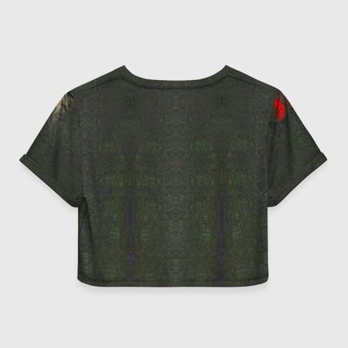 Женская футболка 3D укороченная  Фото 02, Dark Souls 5