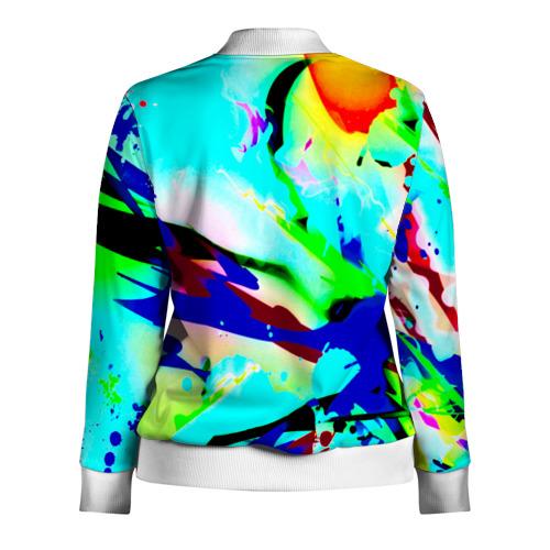 Женская олимпийка 3D  Фото 02, Цветные краски