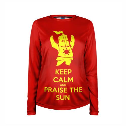 Женский лонгслив 3D для беременных  Фото 03, Keep calm and praise the sun