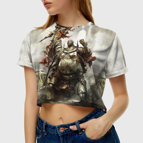 Женская футболка 3D укороченная  Фото 01, Dark Souls 10