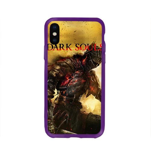 Чехол для Apple iPhone X силиконовый глянцевый Dark Souls 14 Фото 01