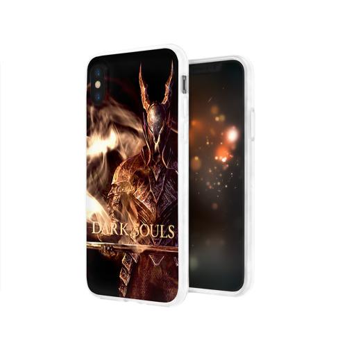 Чехол для Apple iPhone X силиконовый глянцевый  Фото 03, Dark Souls 16