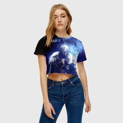 Женская футболка 3D укороченная  Фото 04, Dark Souls 17