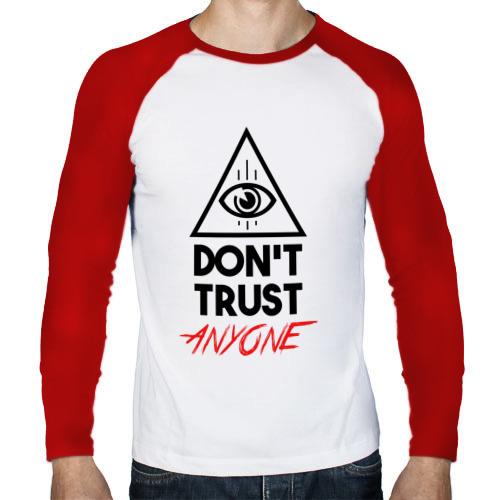 Мужской лонгслив реглан  Фото 01, Don't trust anyone