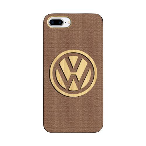 Чехол для Apple iPhone 8 Plus деревянный  Фото 01, Volkswagen