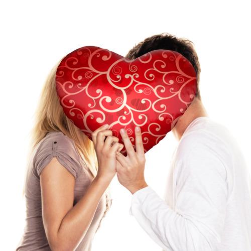 Подушка 3D сердце  Фото 03, Любовь