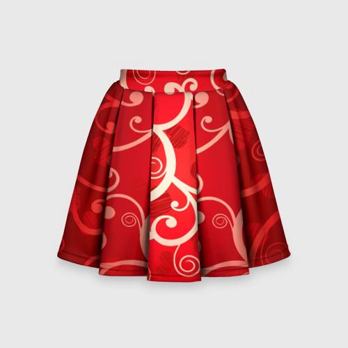 Детская юбка-солнце 3D Любовь
