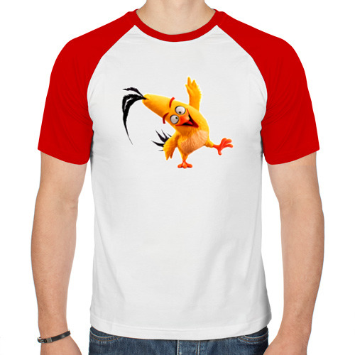 Мужская футболка реглан  Фото 01, Смешная птичка
