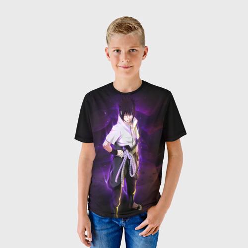 Детская футболка 3D Наруто (Sasuke Uchiha)