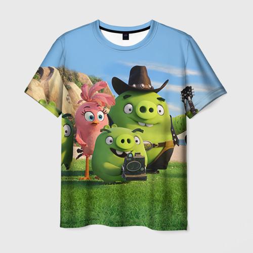 Мужская футболка 3D  Фото 01, Свинки