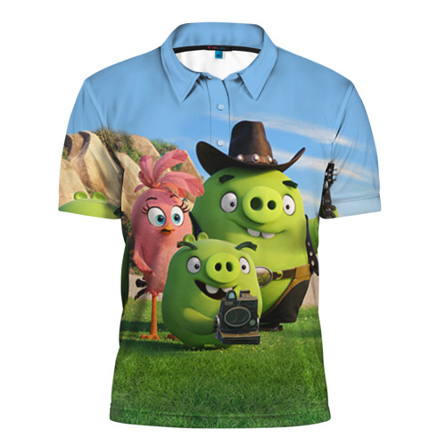Мужская рубашка поло 3D  Фото 01, Свинки