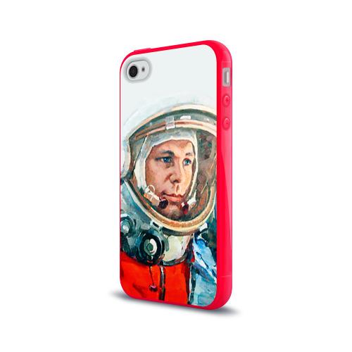 Чехол для Apple iPhone 4/4S силиконовый глянцевый Гагарин Фото 01