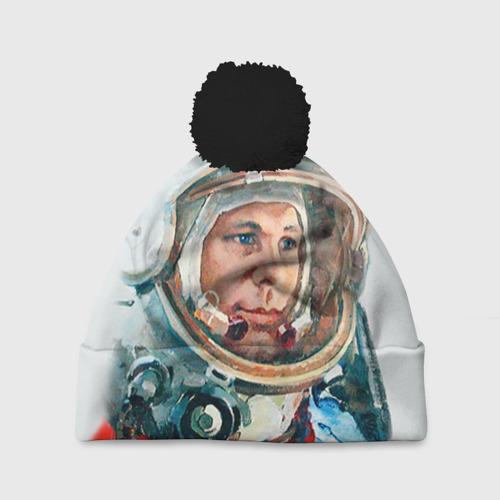 Шапка 3D c помпоном Гагарин Фото 01