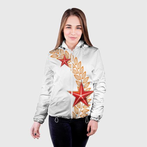 Женская куртка 3D  Фото 03, 9 мая - красные звезды