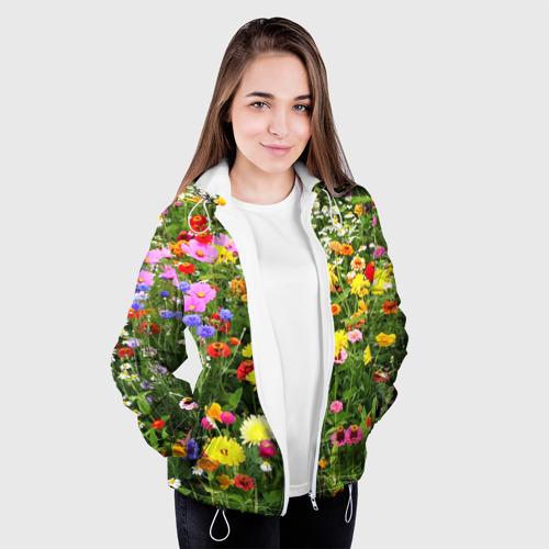 Женская куртка 3D  Фото 04, Полевые цветы 1