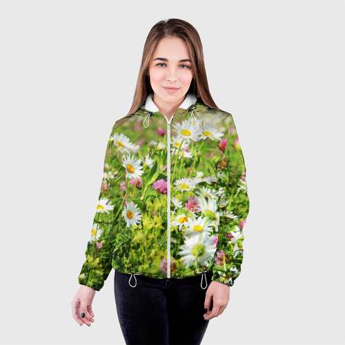 Женская куртка 3D  Фото 03, Полевые цветы 3