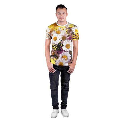 Мужская футболка 3D спортивная  Фото 04, Полевые цветы 4