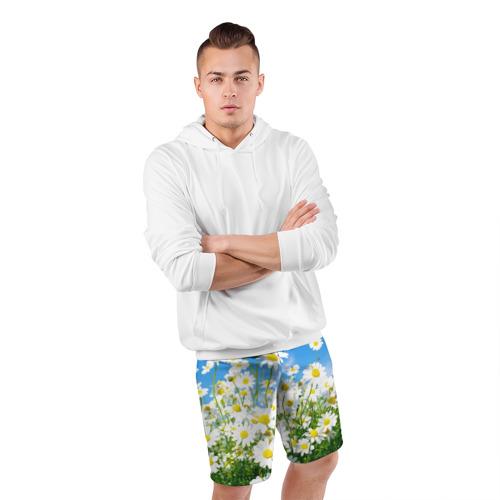 Мужские шорты 3D спортивные  Фото 05, Полевые цветы 7