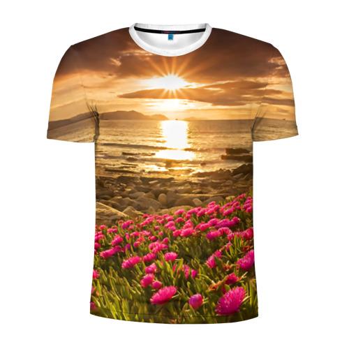Мужская футболка 3D спортивная  Фото 01, Полевые цветы 9