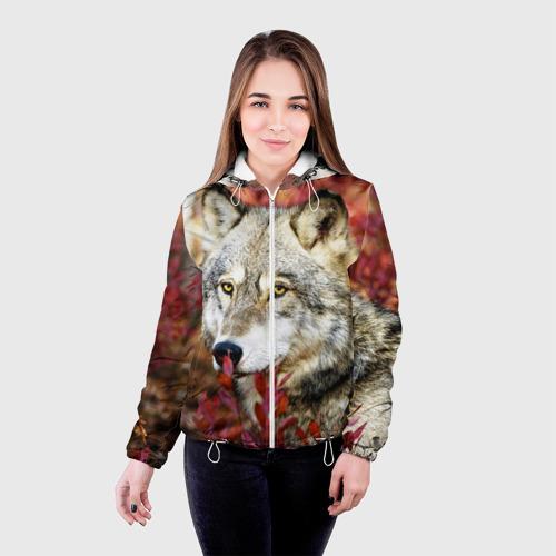 Женская куртка 3D  Фото 03, Волк