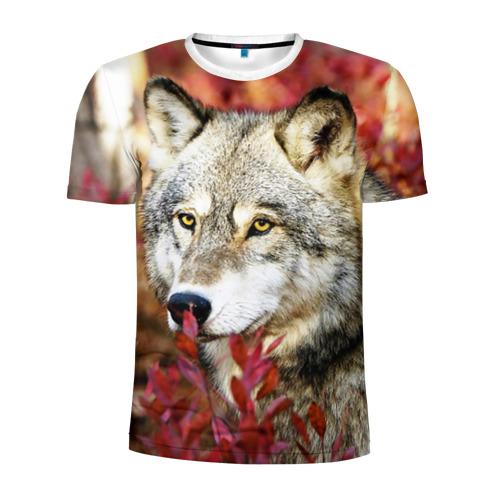 Мужская футболка 3D спортивная  Фото 01, Волк