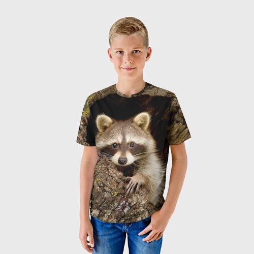 Детская футболка 3D Енот