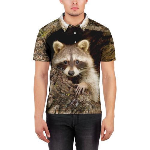 Мужская рубашка поло 3D  Фото 03, Енот