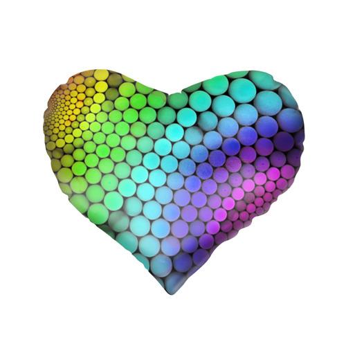 Подушка 3D сердце  Фото 02, Цветные шары