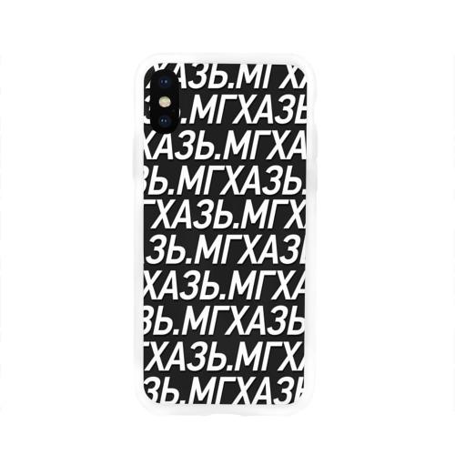Чехол для Apple iPhone X силиконовый глянцевый  Фото 01, МГХАЗЬ.