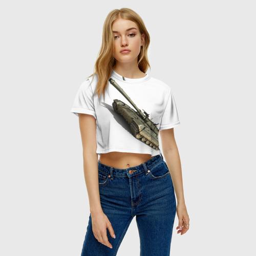 Женская футболка 3D укороченная  Фото 04, Армата 2