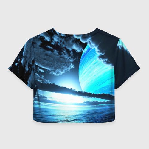 Женская футболка 3D укороченная  Фото 02, Небо