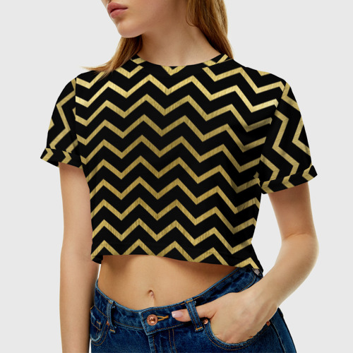 Женская футболка 3D укороченная  Фото 01, Узор