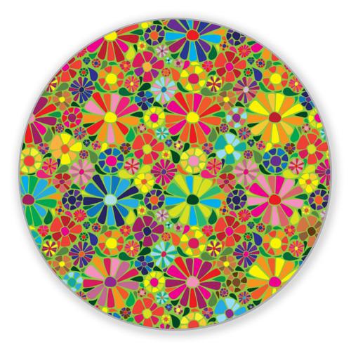 Коврик круглый Узор из цветов от Всемайки