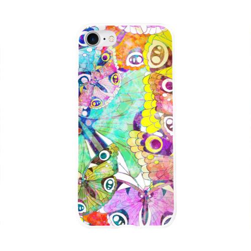 Чехол для Apple iPhone 8 силиконовый глянцевый  Фото 01, Бабочки