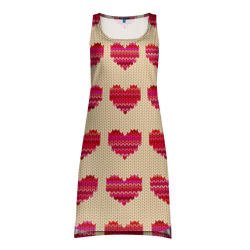 Платье-майка 3D Шерстяные сердечки