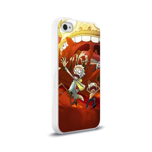 Чехол для Apple iPhone 4/4S силиконовый глянцевый  Фото 02, Рик и Морти
