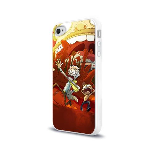 Чехол для Apple iPhone 4/4S силиконовый глянцевый  Фото 03, Рик и Морти