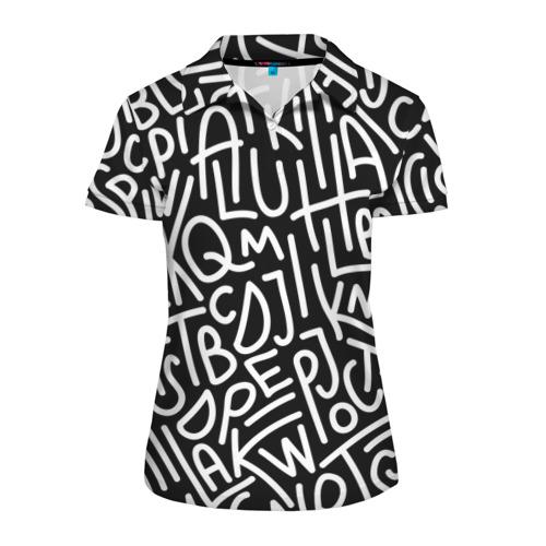 Женская рубашка поло 3D Английские буквы