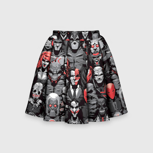 Детская юбка-солнце 3D Супергерои