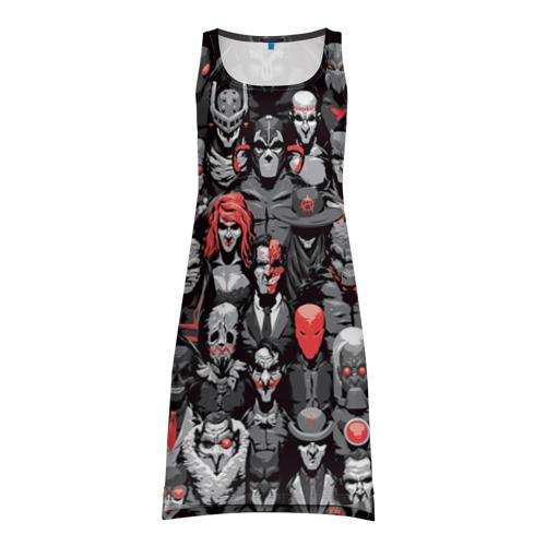 Платье-майка 3D Супергерои