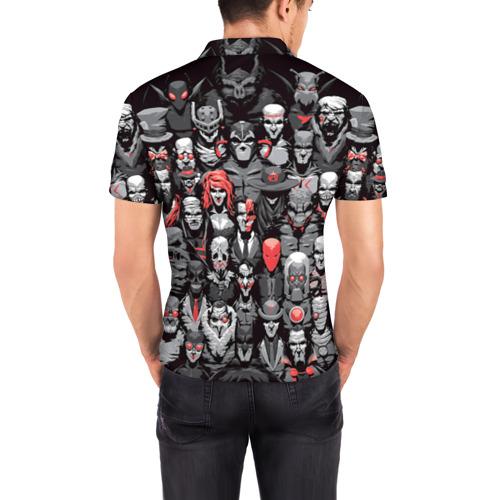 Мужская рубашка поло 3D  Фото 04, Супергерои