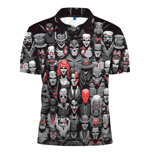 Мужская рубашка поло 3D  Фото 01, Супергерои