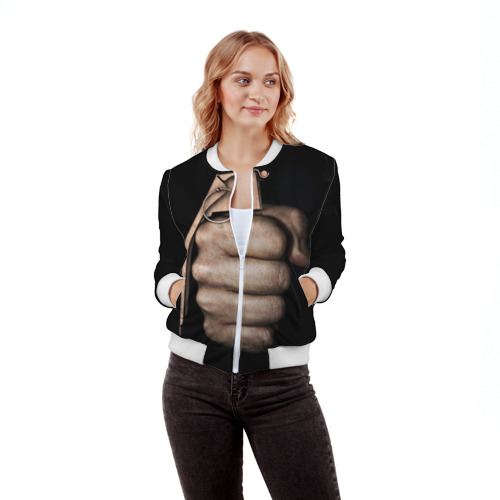 Женский бомбер 3D  Фото 03, Кулак как граната