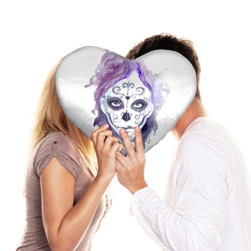 Подушка 3D сердце  Фото 03, Смертельный боди-арт