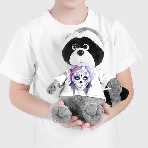 Енотик в футболке 3D  Фото 04, Смертельный боди-арт