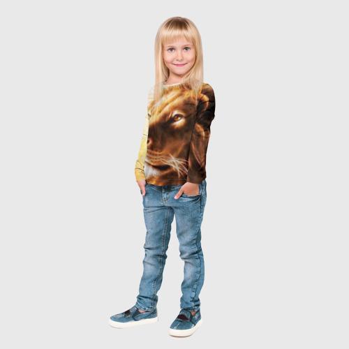 Детский лонгслив 3D Лев Фото 01